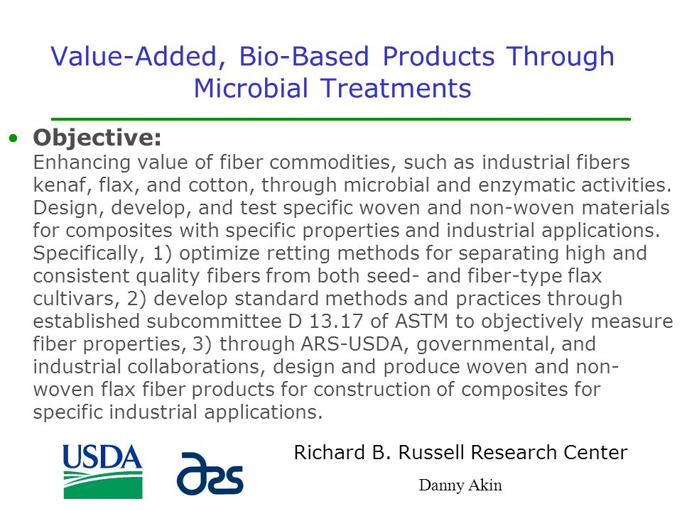 Value-Added, Bio-Based Products Through Microbial Treatments
