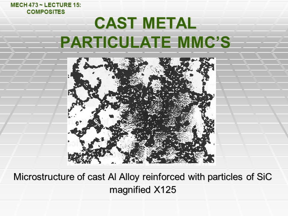 CAST METAL PARTICULATE MMC'S
