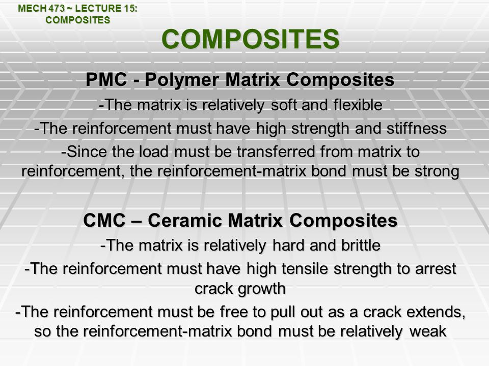 COMPOSITES PMC - Polymer Matrix Composites