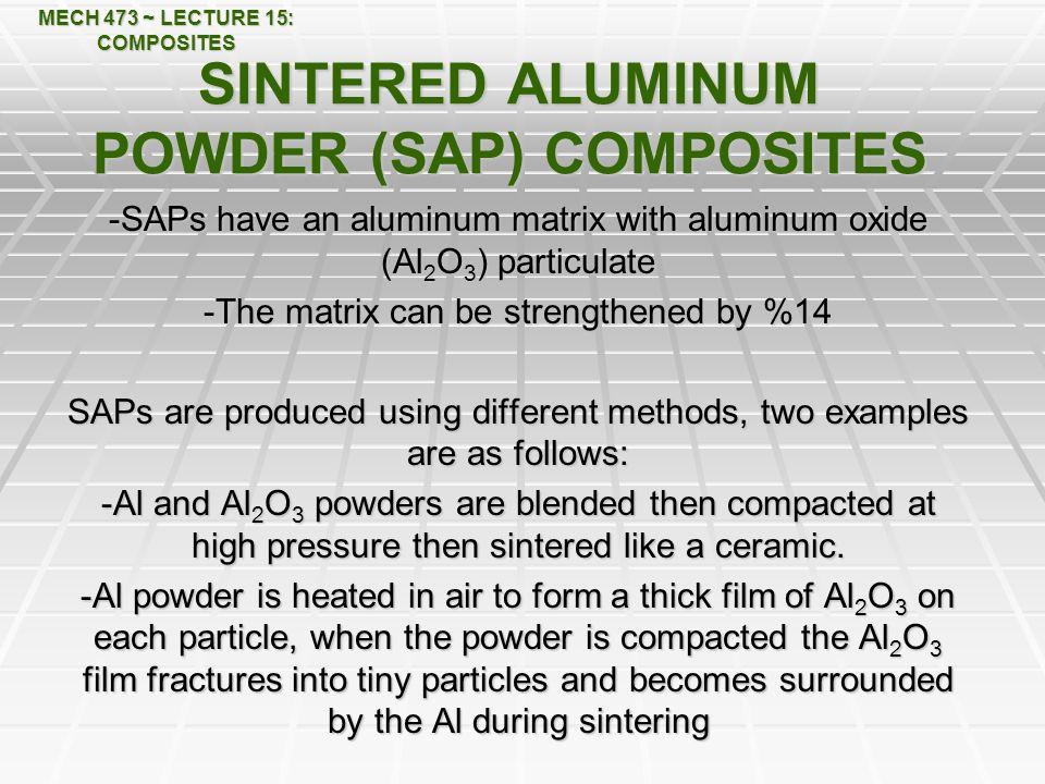 SINTERED ALUMINUM POWDER (SAP) COMPOSITES