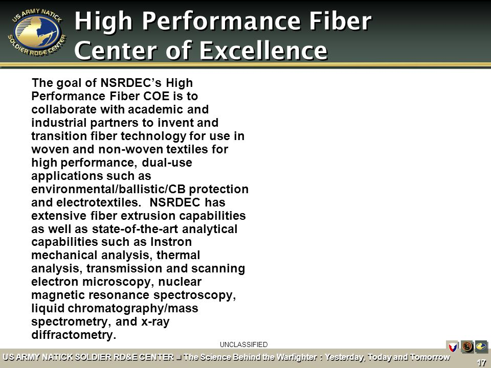 High Performance Fiber Center of Excellence