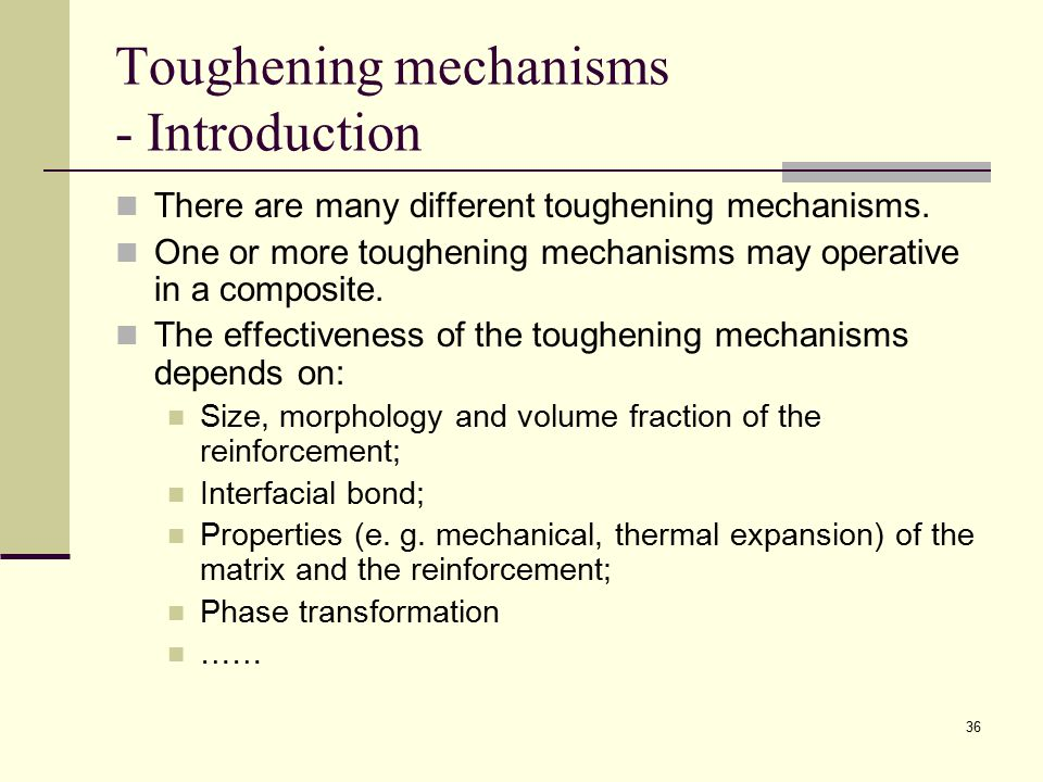 Toughening mechanisms - Introduction
