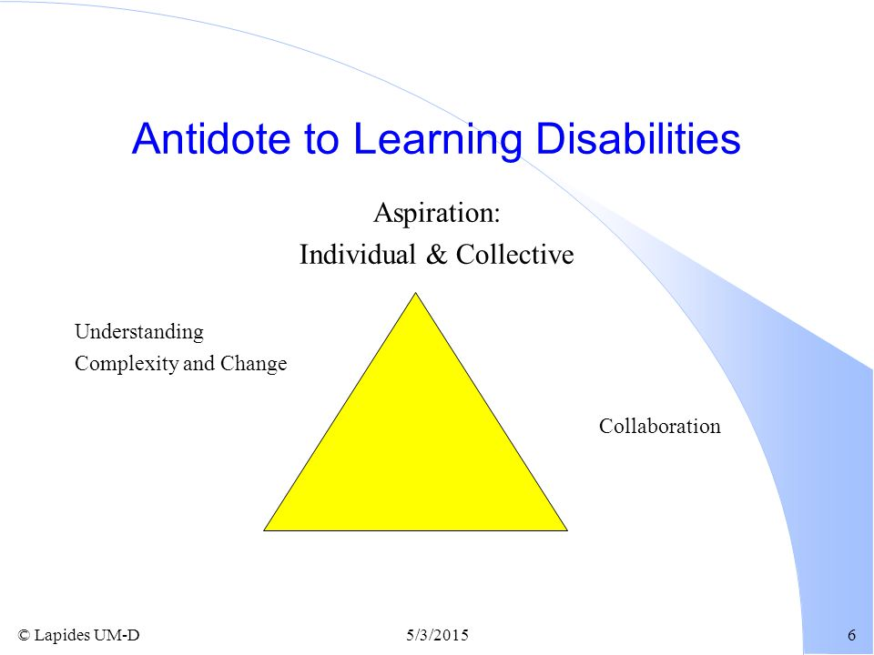 Antidote to Learning Disabilities