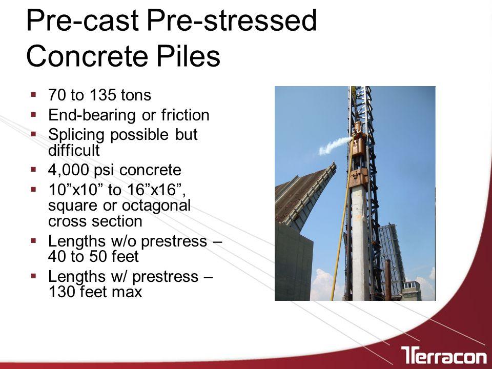Pre-cast Pre-stressed Concrete Piles