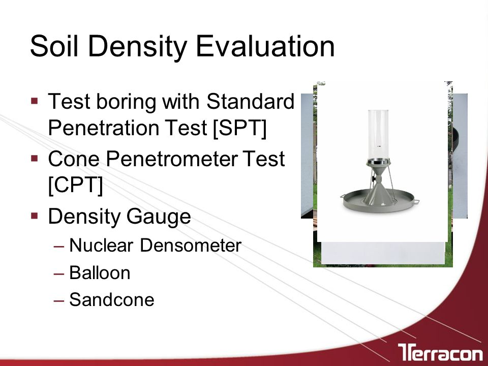 Soil Density Evaluation