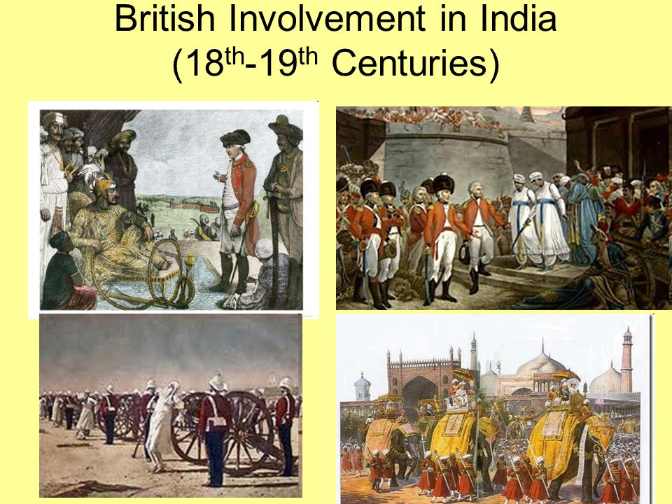 British Involvement in India (18th-19th Centuries)