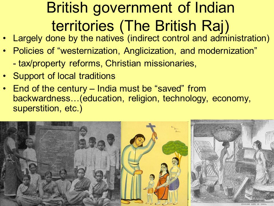British government of Indian territories (The British Raj)