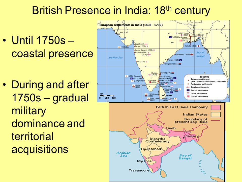 British Presence in India: 18th century