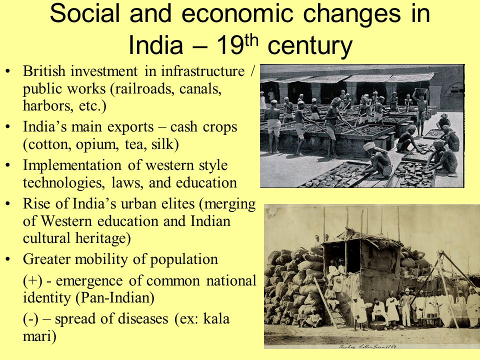 Social and economic changes in India – 19th century
