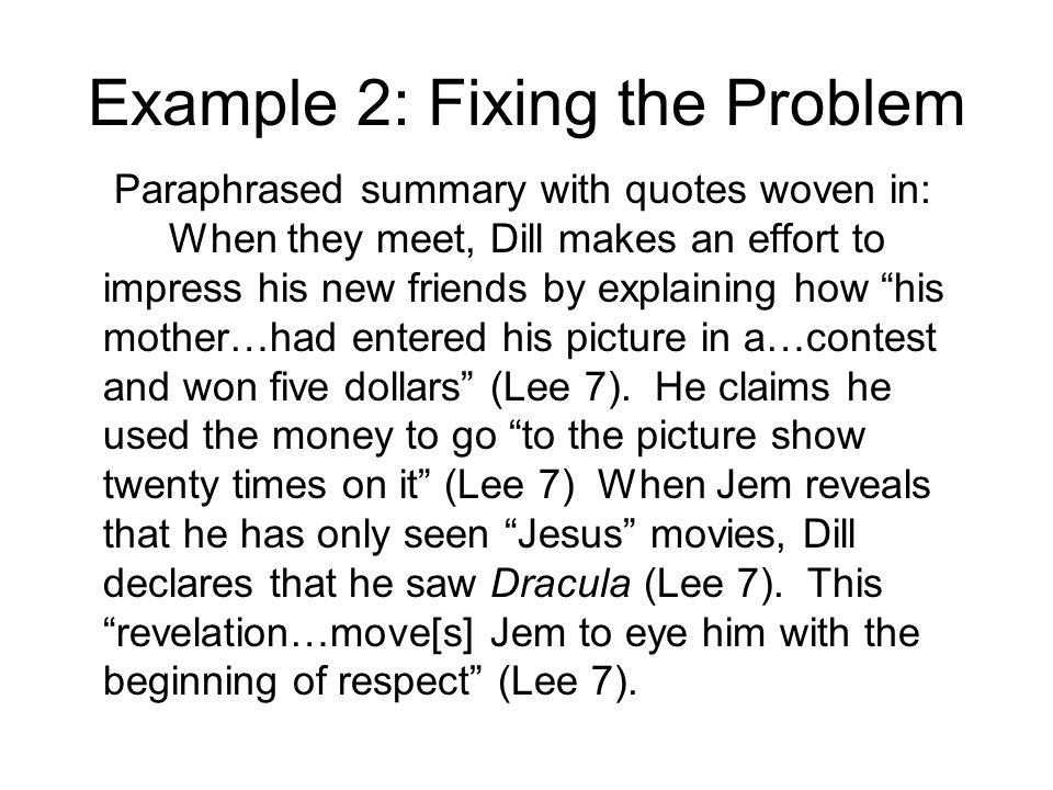 Example 2: Fixing the Problem