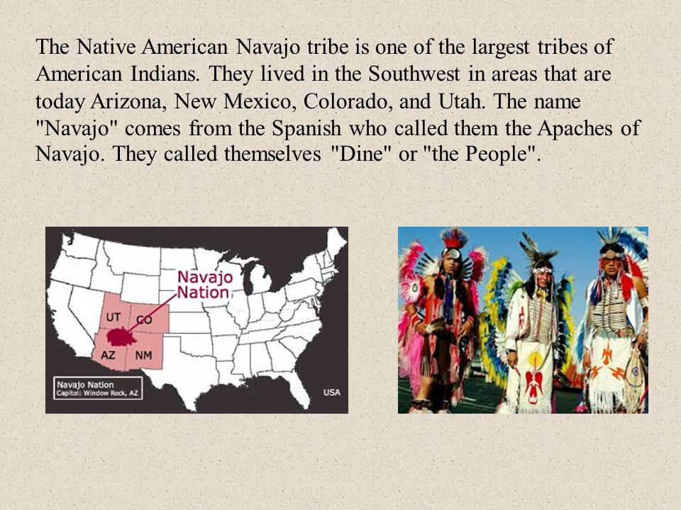 The Native American Navajo tribe is one of the largest tribes of American Indians.
