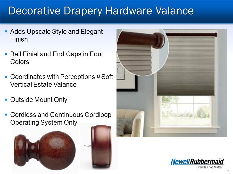 Decorative Drapery Hardware Valance