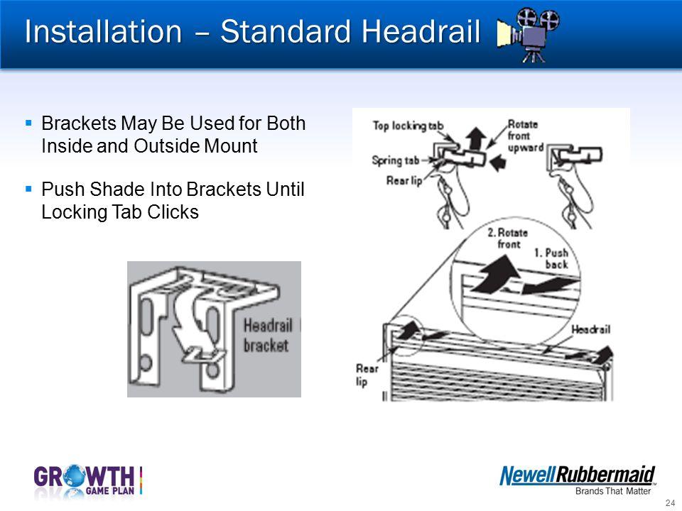 Installation – Standard Headrail