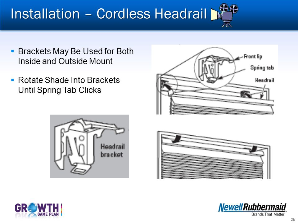 Installation – Cordless Headrail