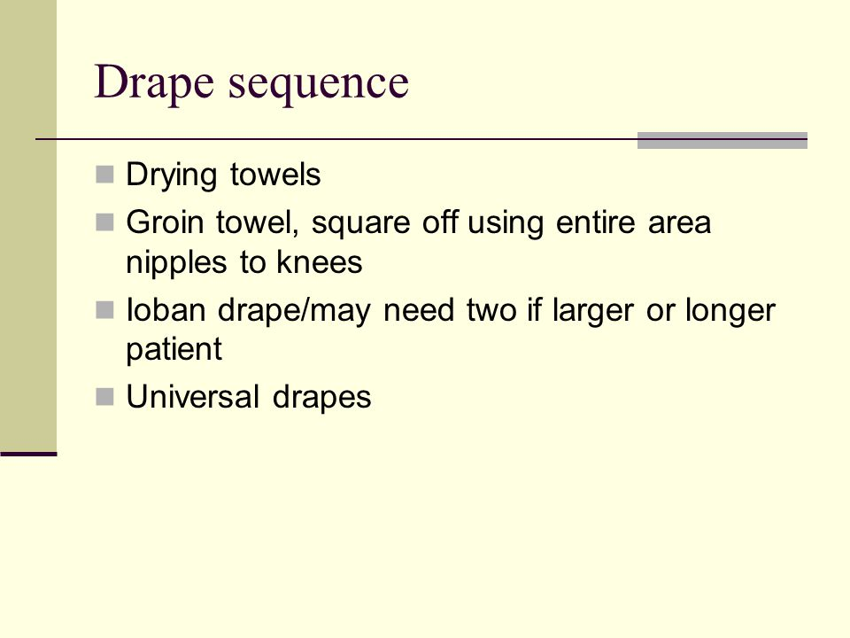 Drape sequence Drying towels