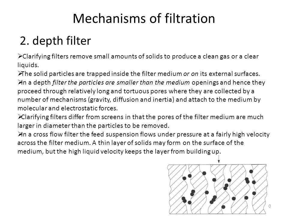Mechanisms of filtration