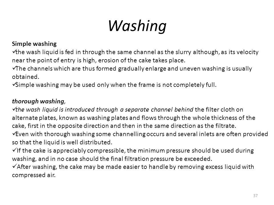 Washing Simple washing