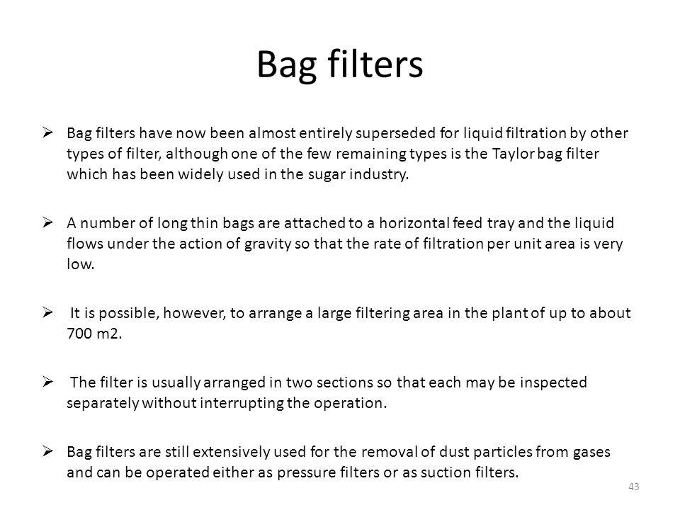 Bag filters