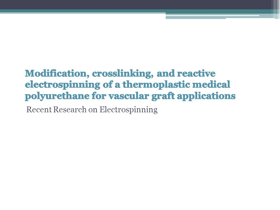 Modification, crosslinking, and reactive electrospinning of a thermoplastic medical polyurethane for vascular graft applications