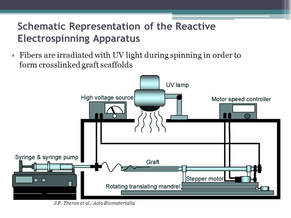 Schematic Representation of the Reactive Electrospinning Apparatus