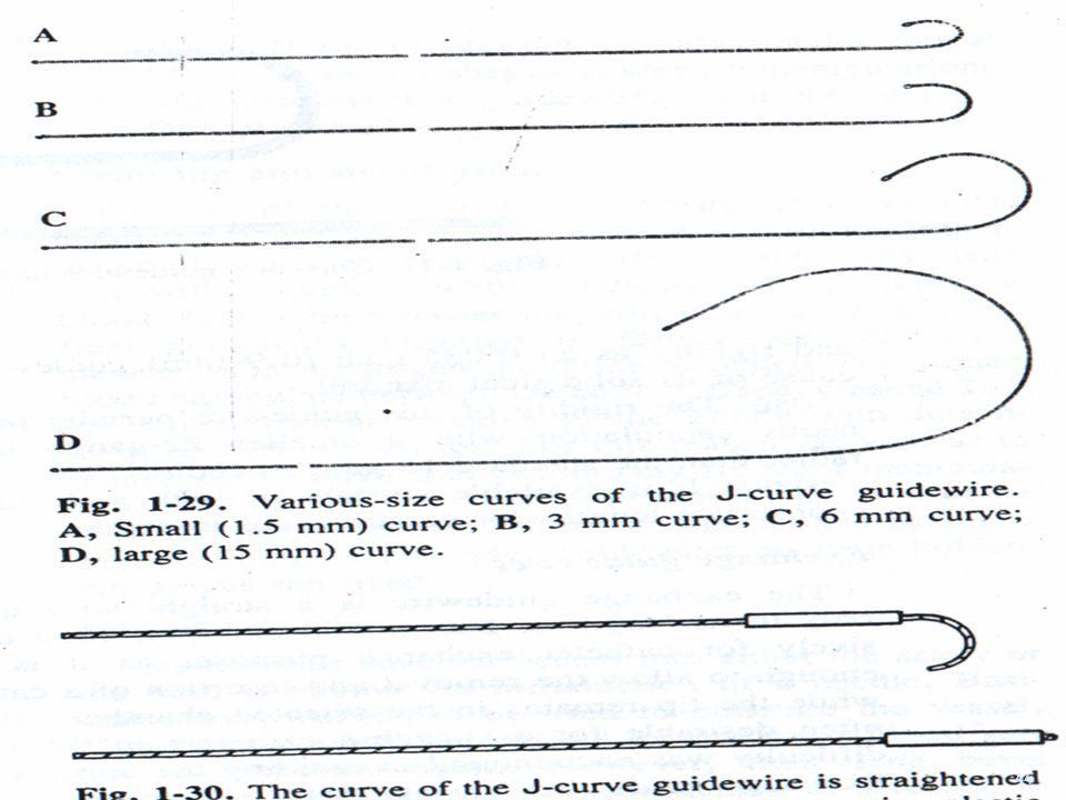J-curve guidewire