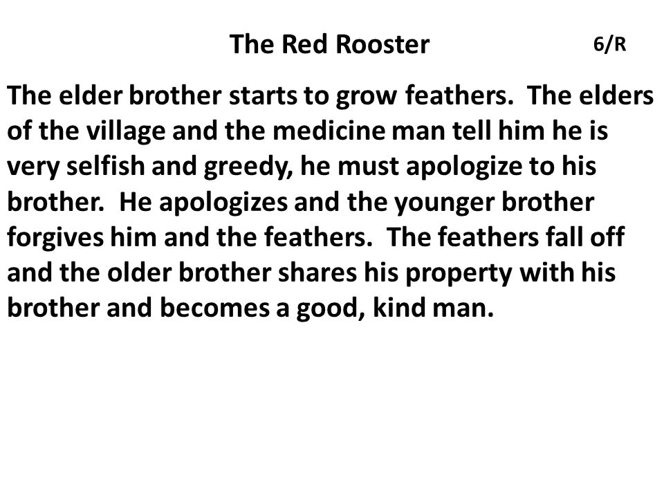 The Red Rooster 6/R.