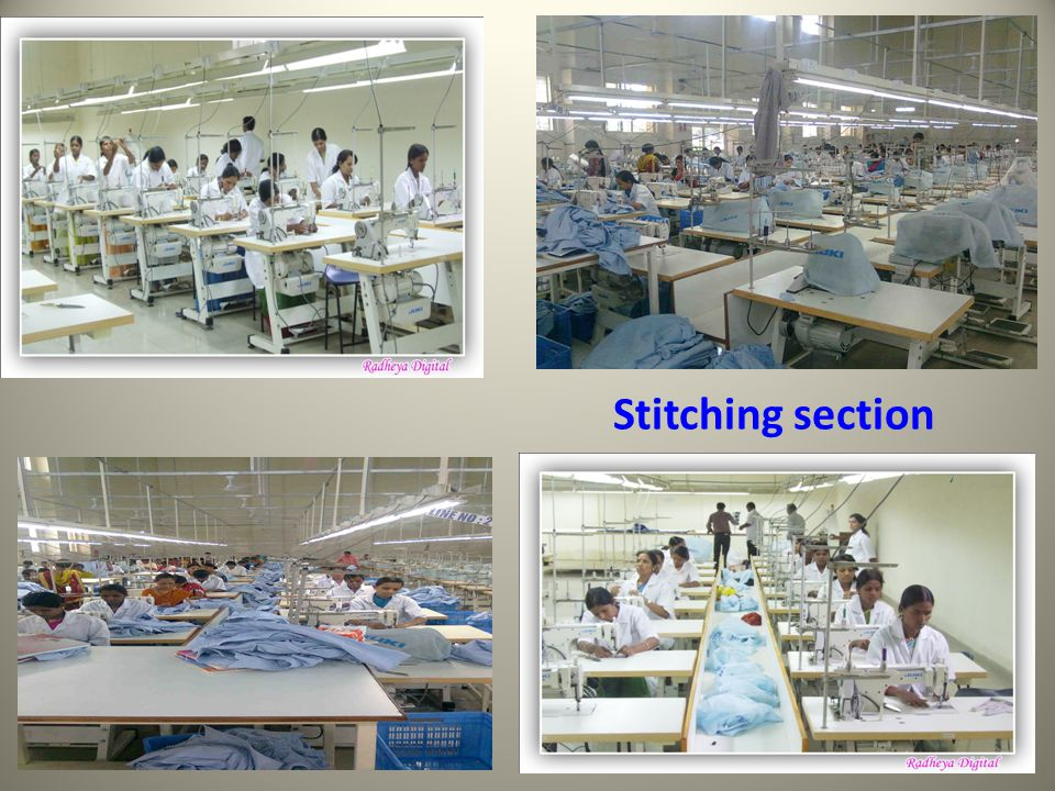 Stitching section