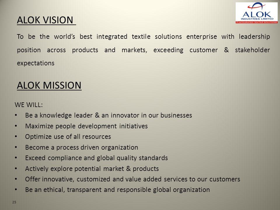 ALOK VISION ALOK MISSION