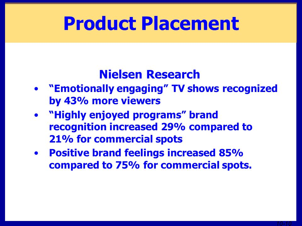 Product Placement Nielsen Research