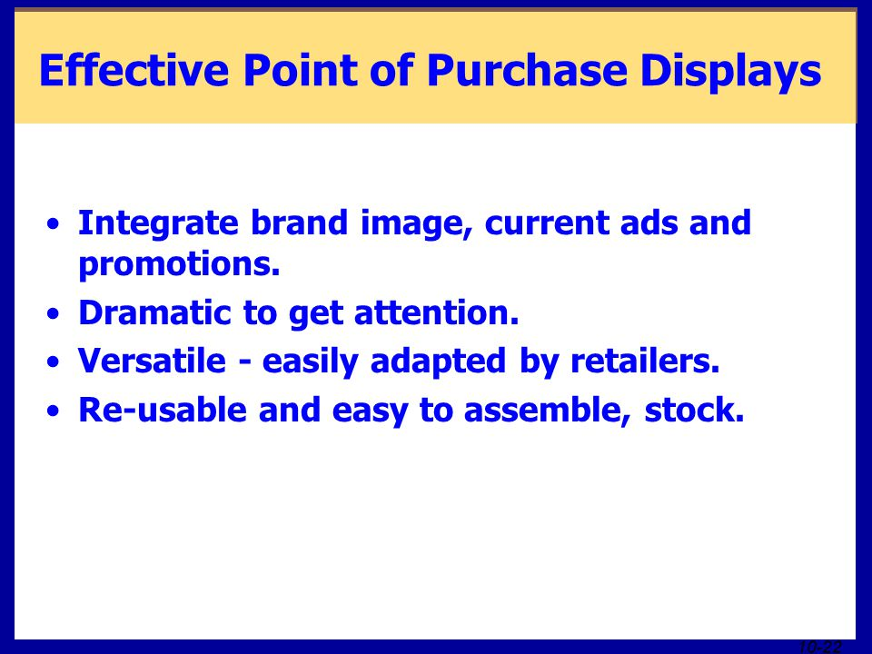 Effective Point of Purchase Displays