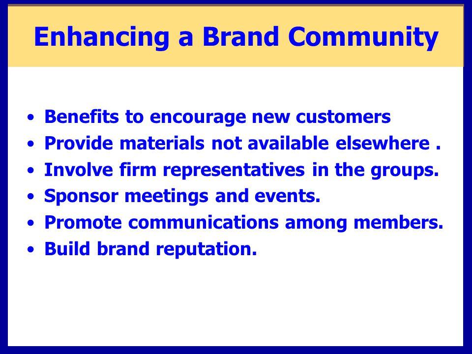 Enhancing a Brand Community