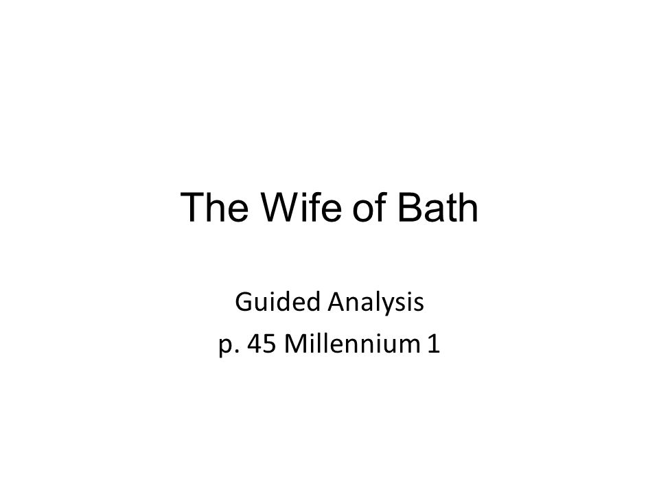 Guided Analysis p. 45 Millennium 1
