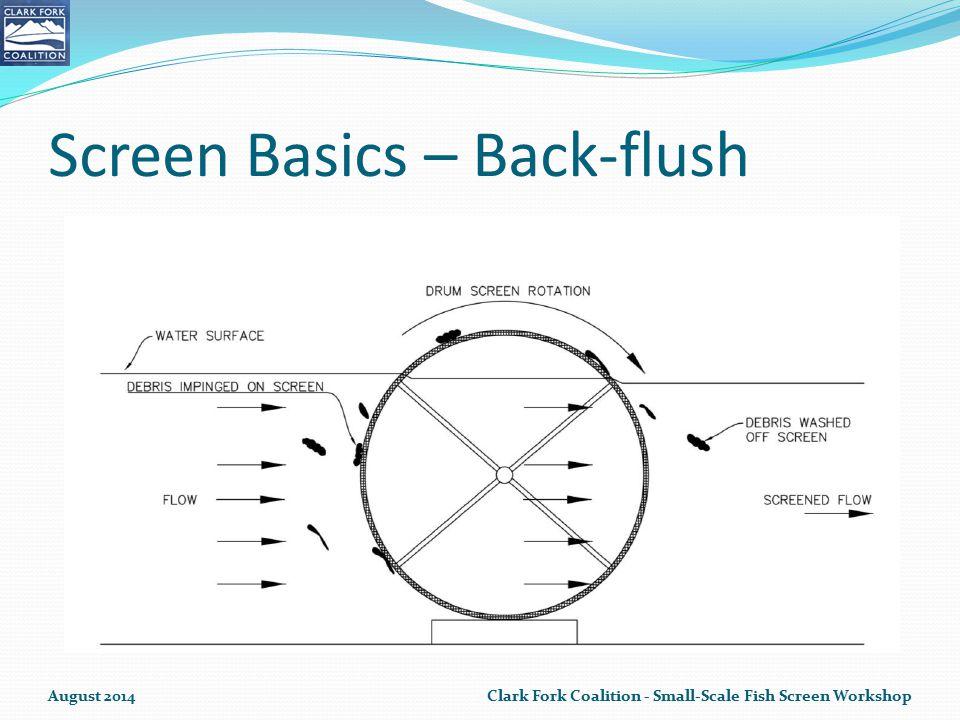 Screen Basics – Back-flush