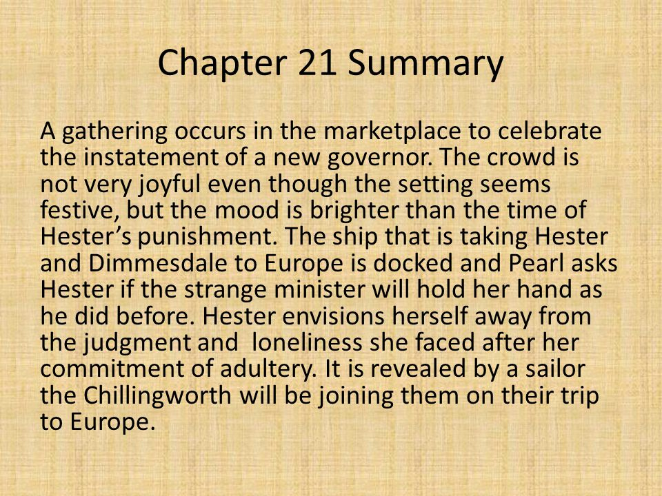 chapter 17 summary scarlete letter Free summary and analysis of the events in nathaniel hawthorne's the scarlet letter that won't make you snore we promise.