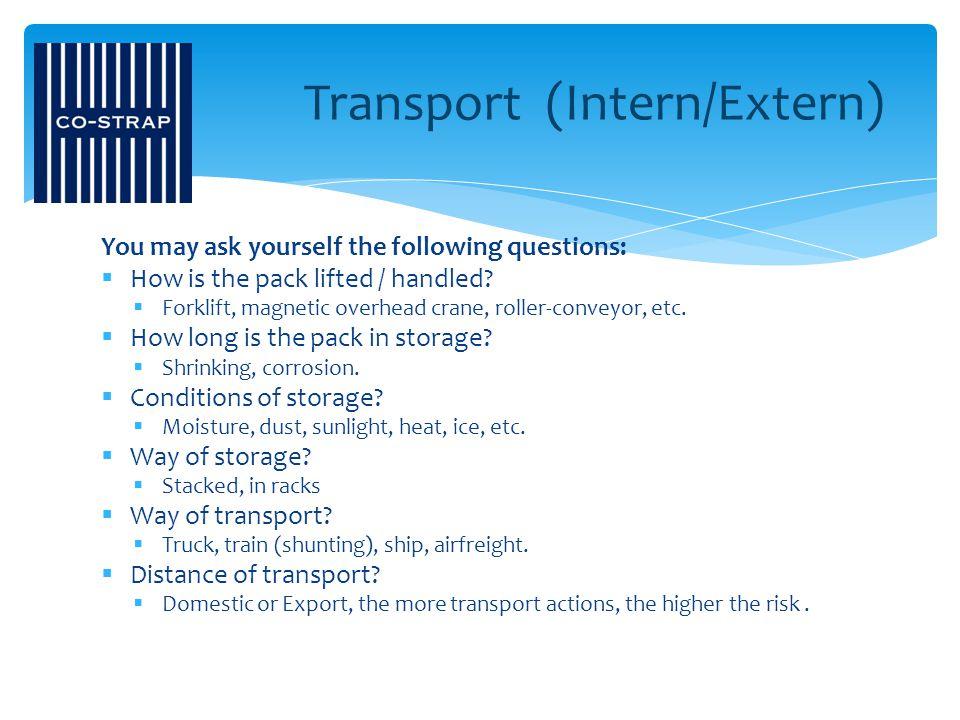 Transport (Intern/Extern)