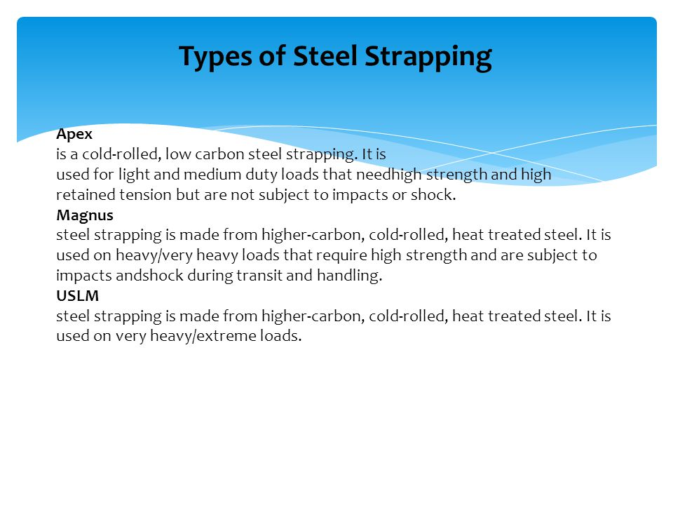 Types of Steel Strapping