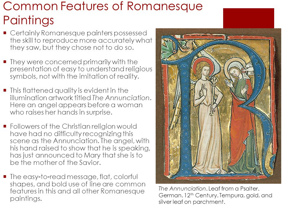 Common Features of Romanesque Paintings