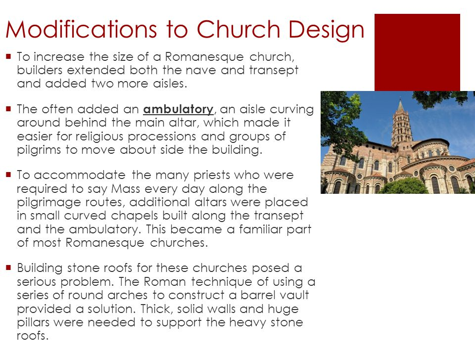 Modifications to Church Design