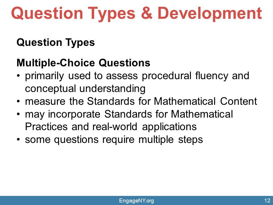 Question Types & Development