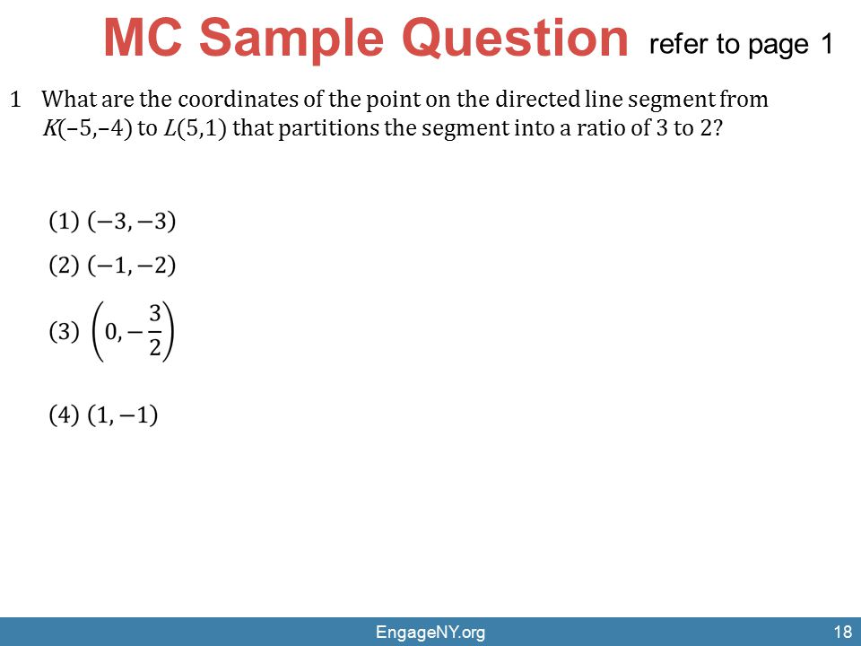MC Sample Question refer to page 1