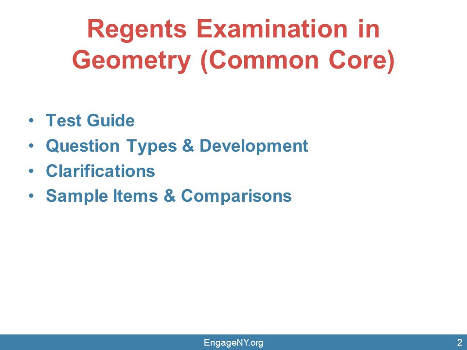 Regents Examination in Geometry (Common Core) - ppt download