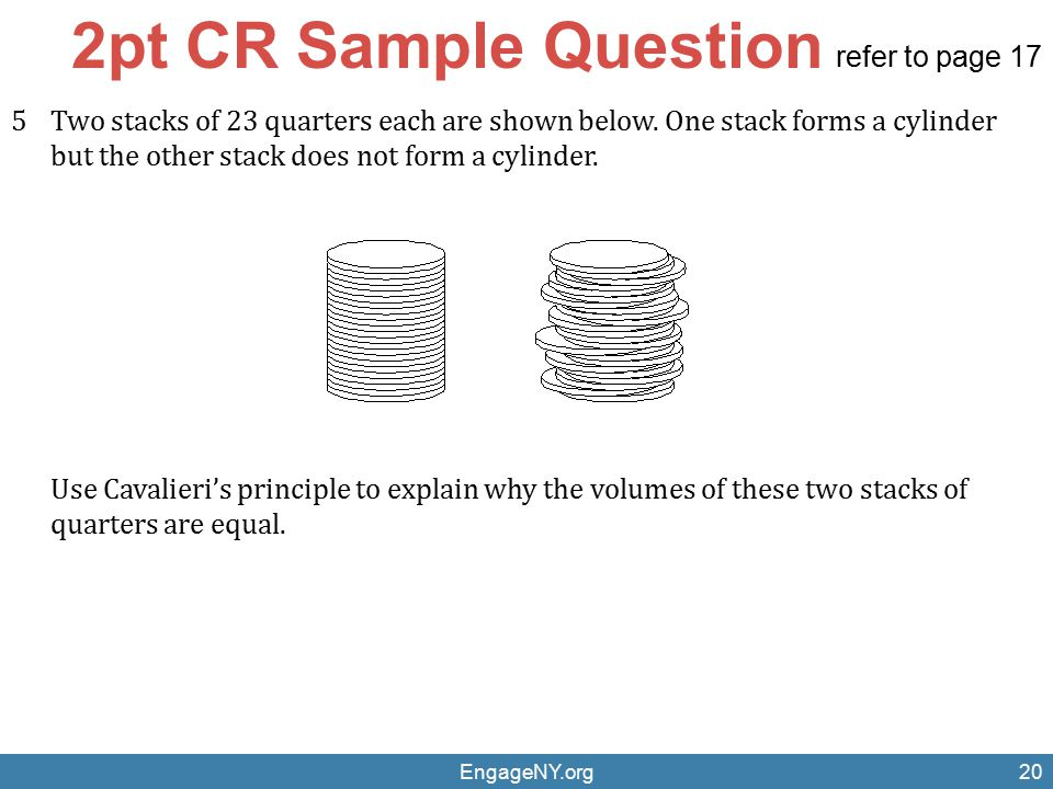 2pt CR Sample Question refer to page 17