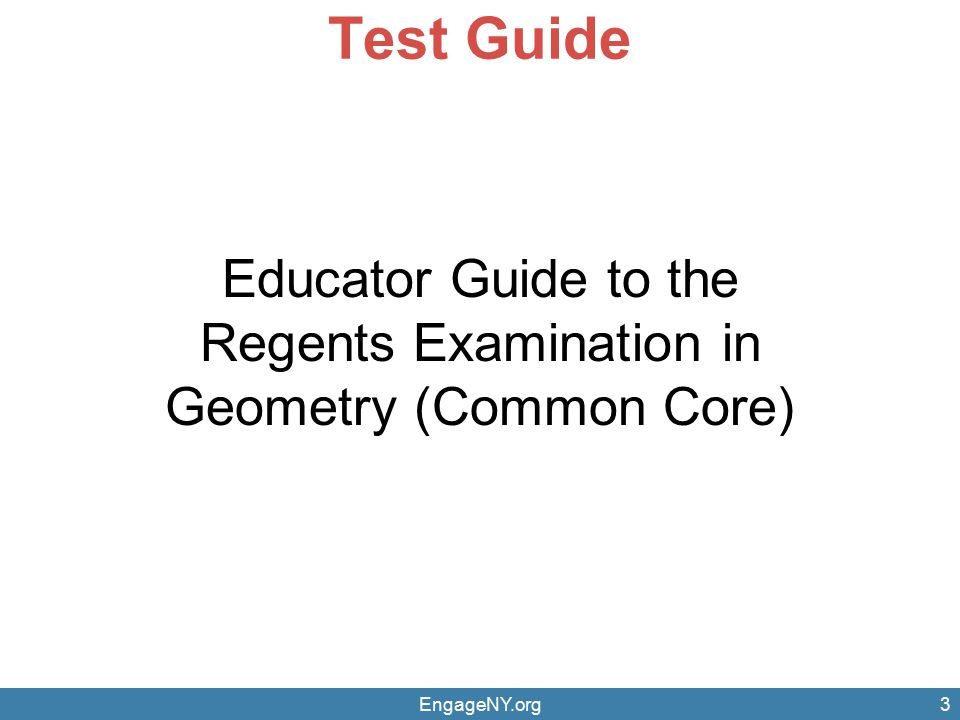 Test Guide Educator Guide to the Regents Examination in