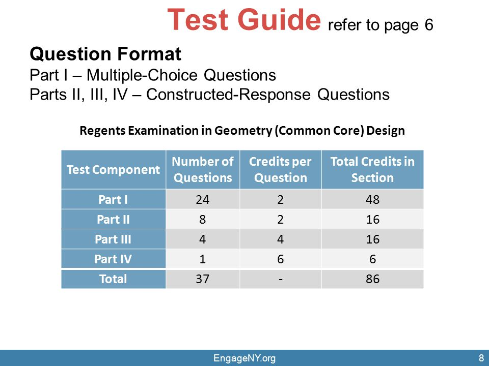 Test Guide Question Format refer to page 6