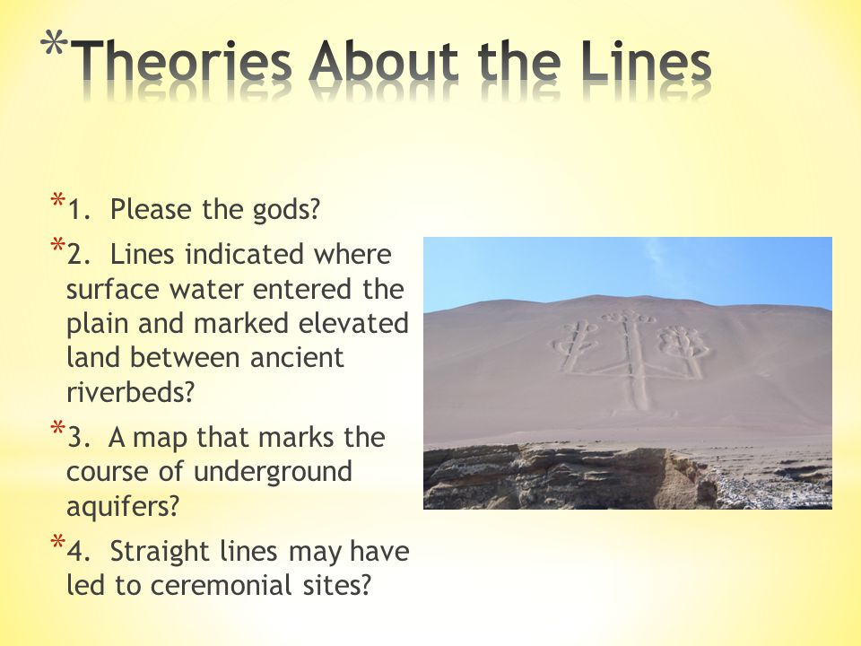 Theories About the Lines