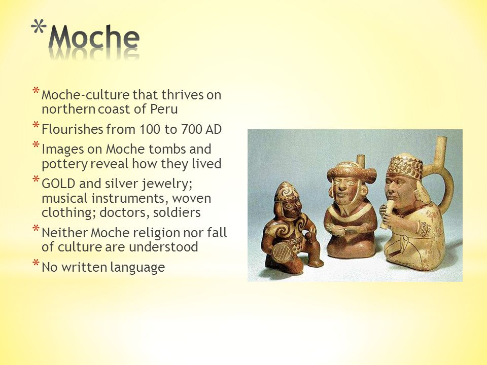 Moche Moche-culture that thrives on northern coast of Peru