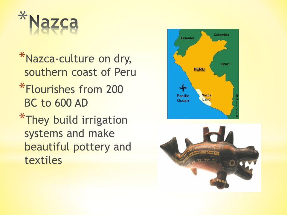 Nazca Nazca-culture on dry, southern coast of Peru