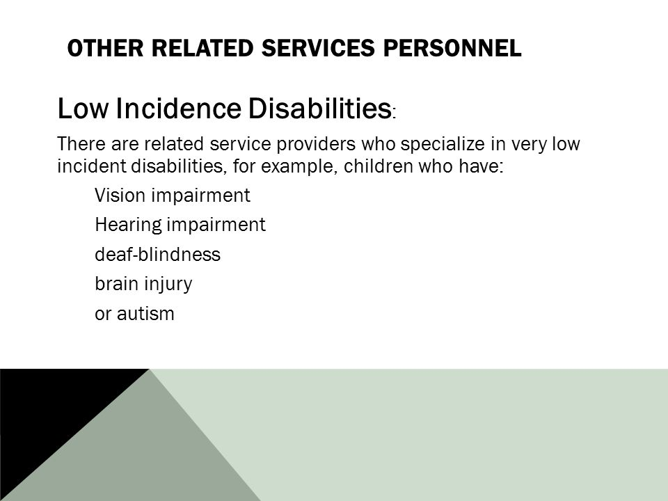 Other Related Services Personnel