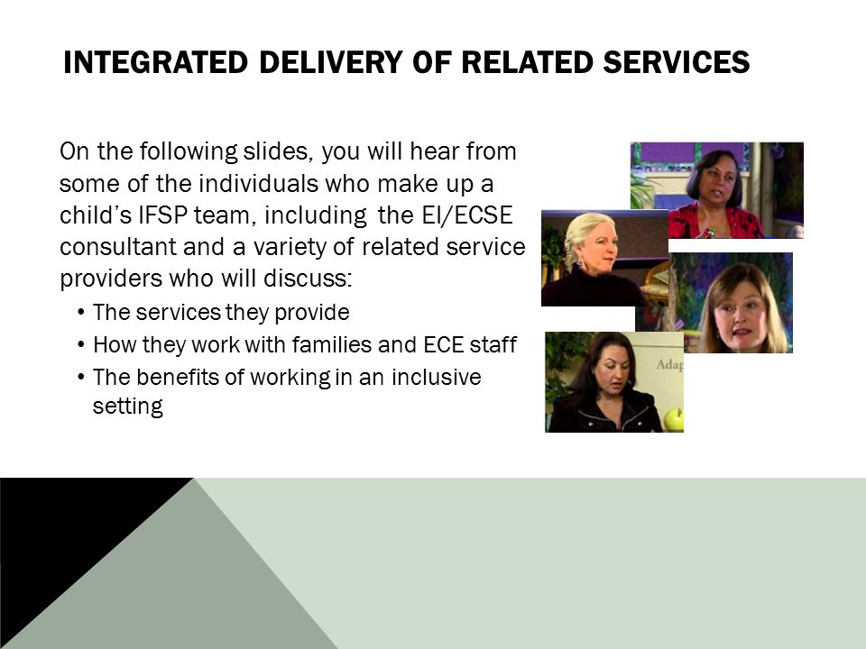 Integrated Delivery of Related Services