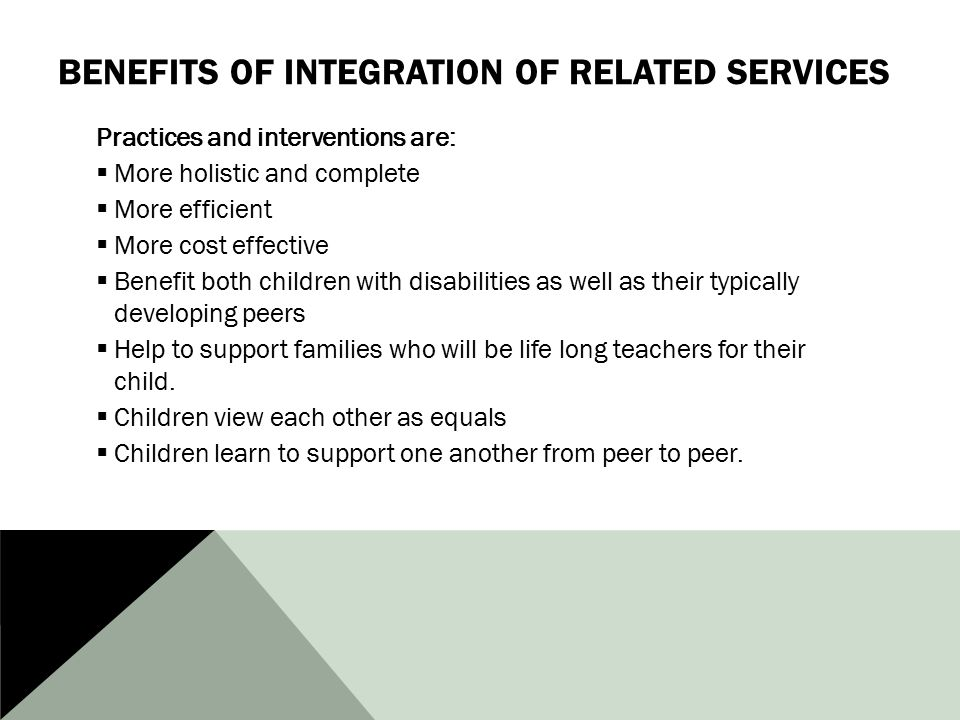 Benefits of Integration of Related Services
